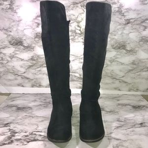 Wild Diva Black Knee High Boots Size 7.5